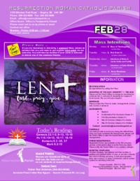 February 28 2021 Bulletin and Inserts