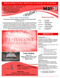 May 31st Bulletin and Inserts