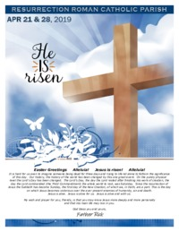 Resurrection Parish Easter 2019 Bulletin and Inserts